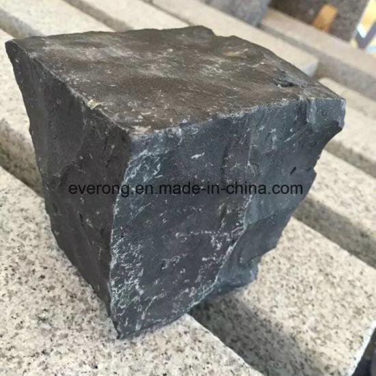 Natural Stone G684 Black Basalt Cobble Chinese Granite Paver For
