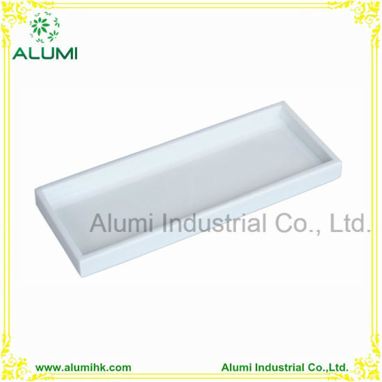 China Bathroom Accessories Amenity Tray Set White Black Color