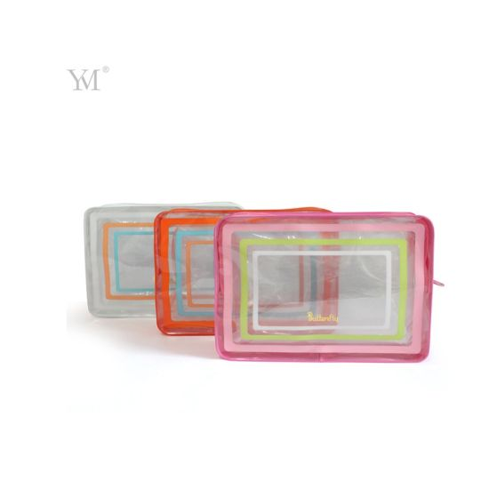 Rectangle Clear PVC Bag for Packing Cosmetics