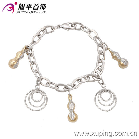 Fashion Xuping Special Women Rhodium Jewelry Bracelet in Environmental  Copper , 73808