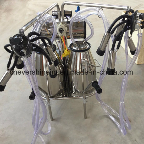 Electrical Cow Milking Machine Double Buckets Double Pulsators pictures & photos