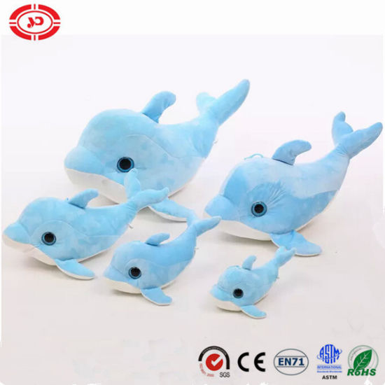 China Sky Blue Big Eyes Cute Dolphin Kids Soft Gift Toy China Soft