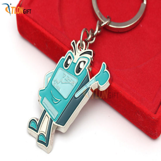 Cartoon Soft PVC Key Chain Soft Rubber Key Chain Metal Key Ring
