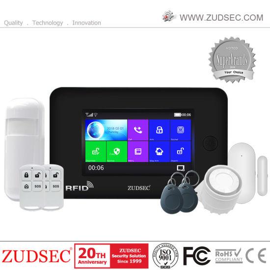 Intruder House Home Security Wireless Burglar GSM WiFi Alarm System with APP Control
