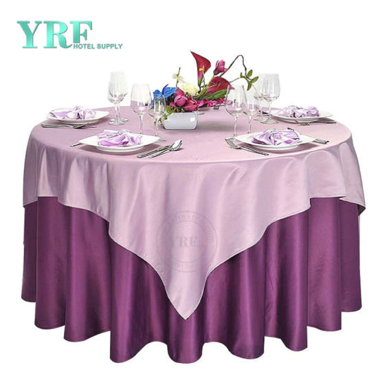 Top Sale 100% Polyester Table Hotel Cloth, Plain Banquet Wedding Round Table Cloth Manufactures