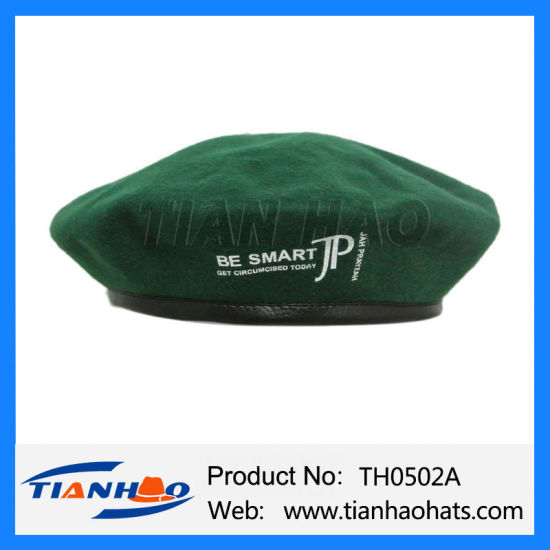 Cheapest Customsied Printing Logo Polyester Felt Milinery Beret Cap for Promotion
