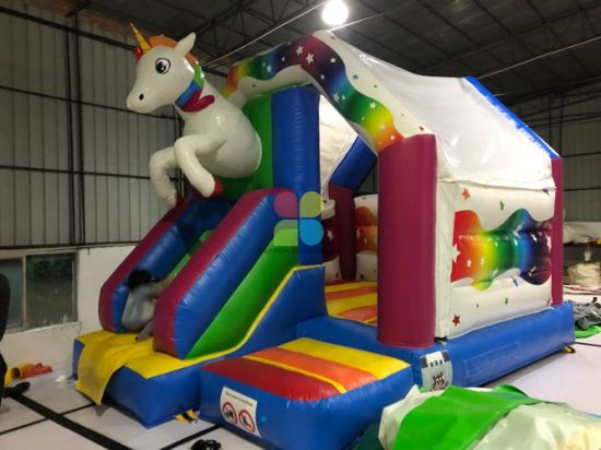 Rainbow Factory Home Design Inflatable Unicorn Jumping Castle for Sale pictures & photos