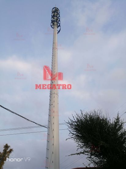 Megatro High Communication Steel Pole Telelcom Tower pictures & photos