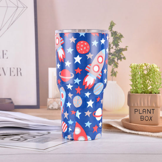 30oz Cartoon Thermos Cup Stainless Steel Vacuum Tumbler