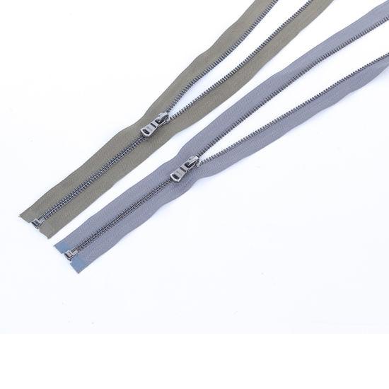No. 5 Metal Zipper Black Nickel Teeth O/E Zipper for Jacket