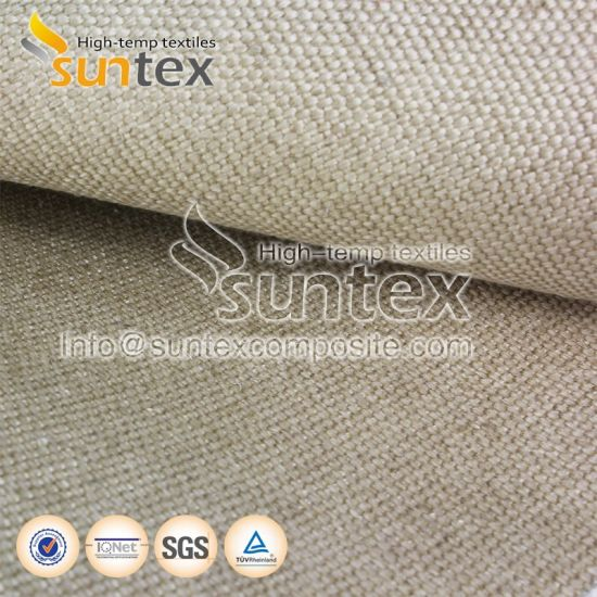 High Temperature Fiberglass Cloth Welding Protection Fire Curtain Vermiculite Coated Fiberglass Fabrics Insulation Materials pictures & photos