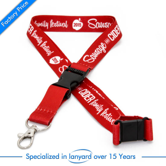 Customized High Quality Printed Lanyard Strap Belt Carabinerclip Cord pictures & photos