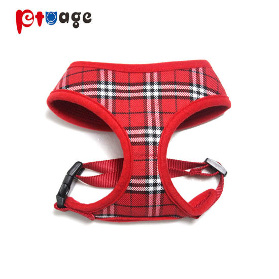 Pet Products Plaid Harness Supply Warm Dog Clothing