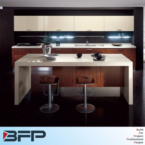 Outstanding Wood Venner Shaker Dark Color Door Panel Rta Kitchen Island With Quartz Bench Pabps2019 Chair Design Images Pabps2019Com