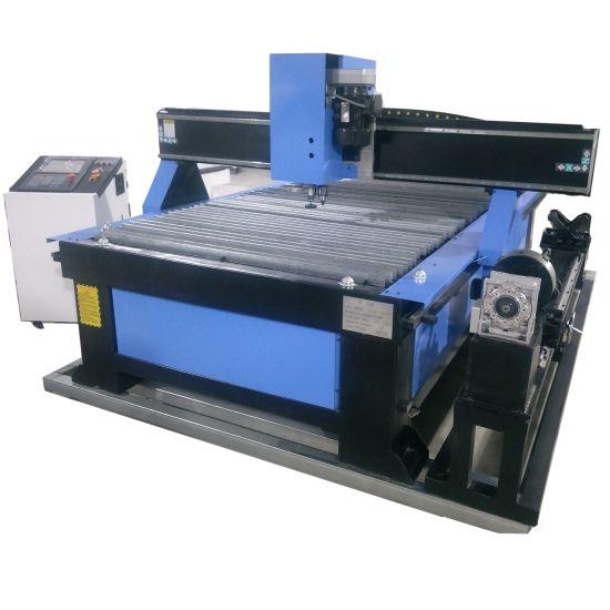 China Cheap Price Metal Pipe CNC Plasma Cutting Machine for Steel/100A 200A CNC Plasma Table Cutter Machine with Drilling Head/Tube Plasma Flame Cutting Machine