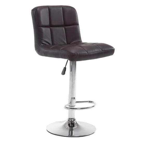 Surprising Modern Swivel Adjustable Hydraulic Leather Coffee Barber Chairs Bar Stools Machost Co Dining Chair Design Ideas Machostcouk
