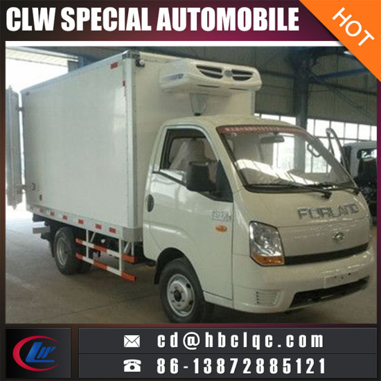 Low Price 1-1-2ton Meat Freezer Transport Refrigerated Truck