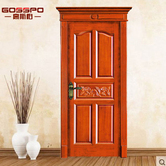 Entry Door Type And Finished Surface Solid Wood Door Gsp2 013