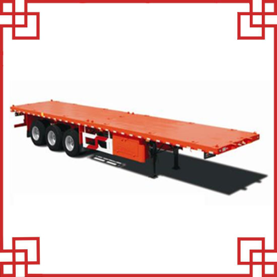 40 Feet China Cheap Flatbed Container Truck Semi Trailer Sm-043