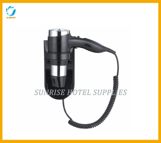 Hotel Wall Mounted Hair Dryer with Hold Button Safe System