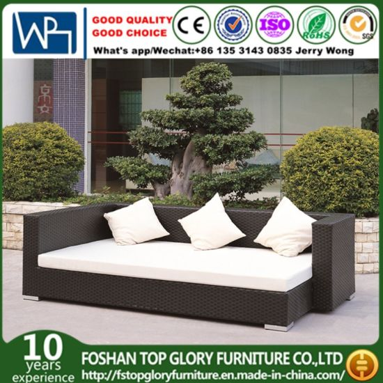 Garden Patio Rattan Outdoor Lounge Offce Hotel Home Sofa with Polywood Table (TG-JW42) pictures & photos