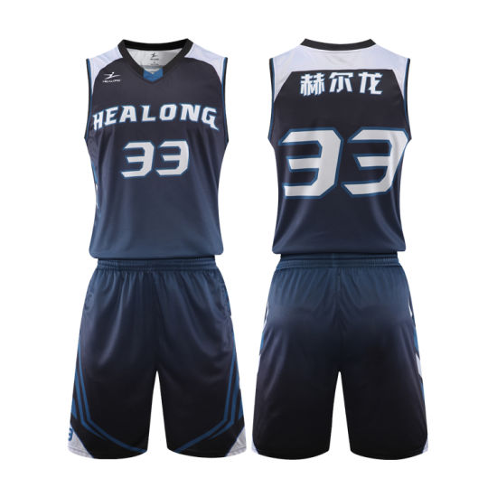 Custom Sublimated Basketball Uniform Shorts Simple Design Basketball Jersey pictures & photos