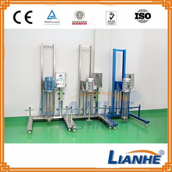 High Shear Lifting Mixer Stainless Steel Mobile Homogenizer pictures & photos