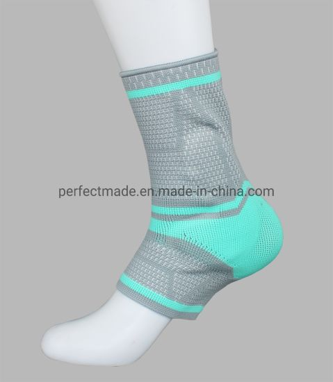 Blue Green High-Elastic Nylon Comfortable Sports Sleeve Protector Ankle Pad