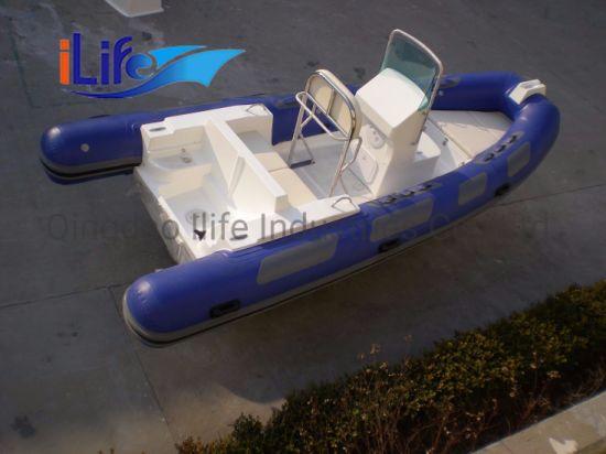 Ilife Ce High Quality PVC or Hypalon Material Rib Rigid Hull Fiberglass Bottom Inflatable Boats