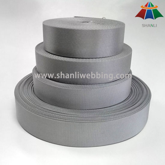 32mm and 38mm Silver Gray Small Wave and Microgroove Weave Nylon Webbing for Backpack