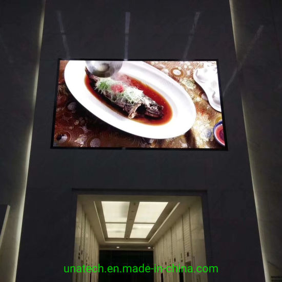 Indoor LED Wall Mounted Advertising Screen pH6 SMD Full Color High Resolution Media Display