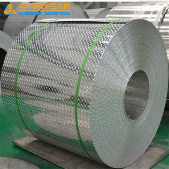 Aluminium/Aluminum Alloy Embossed Checkered Tread Sheet Coil for Refrigerator/Construction/Anti-Slip Floor (A1050 1060 1100 3003 3105 5052) pictures & photos
