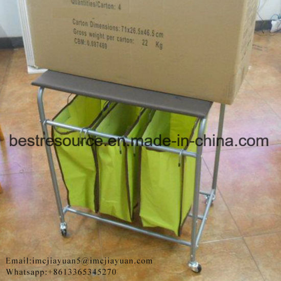 100 Cotton Canvas Laundry Cart Cloth Basket With Wheels Laundry Hamper