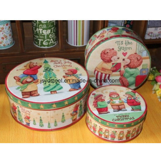 Modern Popular Chocolate Biscuit Tin Box with Metal Lid Can Customized pictures & photos