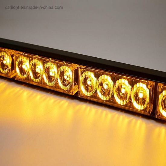 """30 LED 32/"""" Emergency Warning Traffic Advisor Strobe Light Bar Amber White Yellow"""