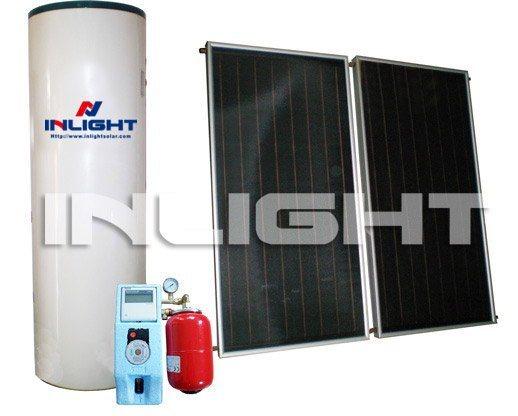 Split Flat-Plate Solar Water Heater