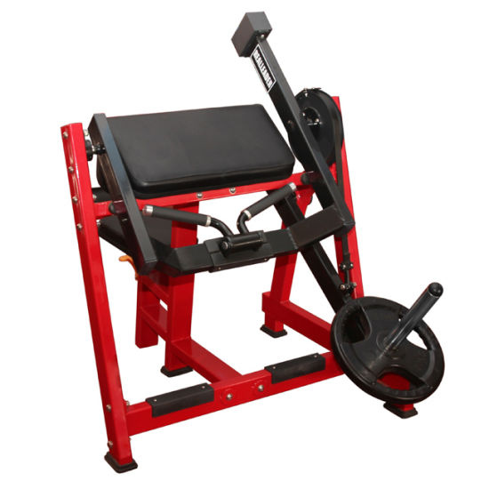 Exercise Machine Plate Loaded Strength Seated Biceps Curl Gym
