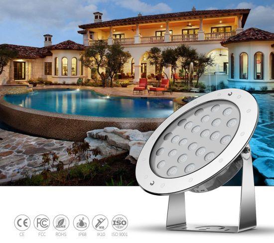CE RoHS FCC Ik10 Certificate Waterproof LED Light Underwater DMX512 Control LED Swimming Pool Light