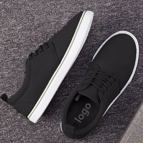 Wholesale Cheap Price Custom Logo and Color Men Casual Shoes Canvas Shoes