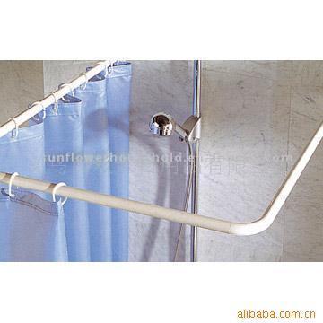Aluminum Alloy U Shape Shower Curtain Bar HM8412