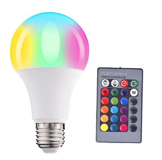 Amazon Hot Sale Color Changing Remote 3W 5W 10W 15W LED Colorful RGB Light Bulb