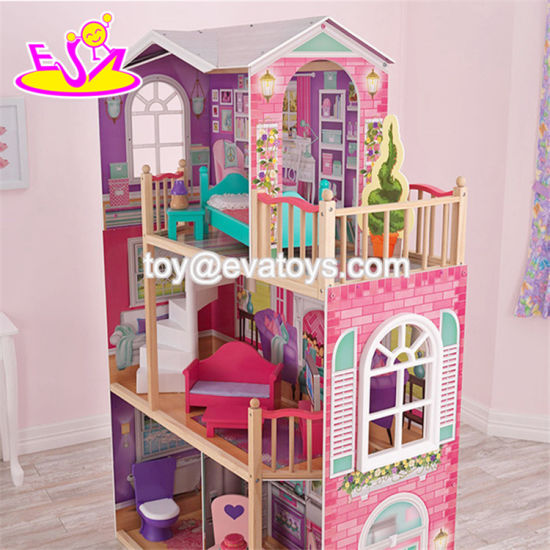 Best Design Big Size Kids Wooden Elegant Doll House Set with Furniture W06A227 pictures & photos