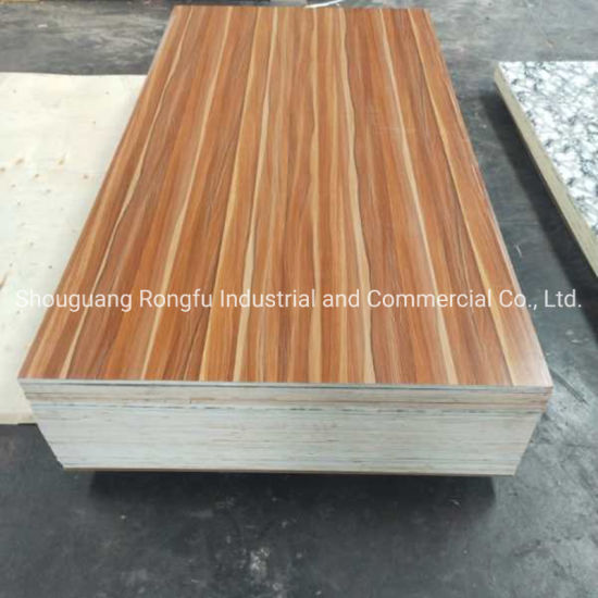 Poplar/Hardwood/ Combi Core Melamine Plywood for Furniture