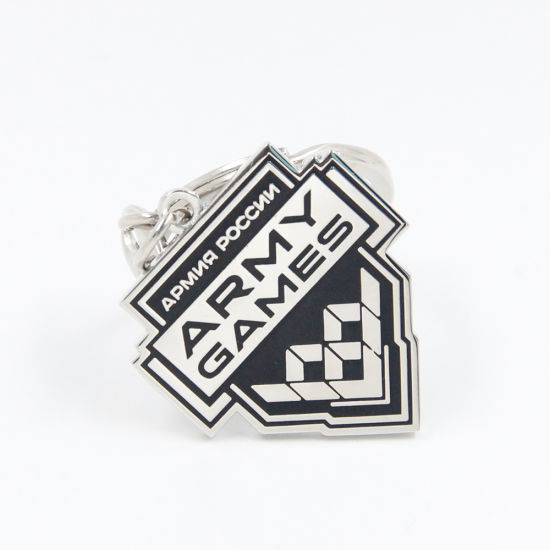 Wholesale Custom Logo Promotional Fashion Cheaper Keyring Character Metal Soft Enamel Keychain Key Holder