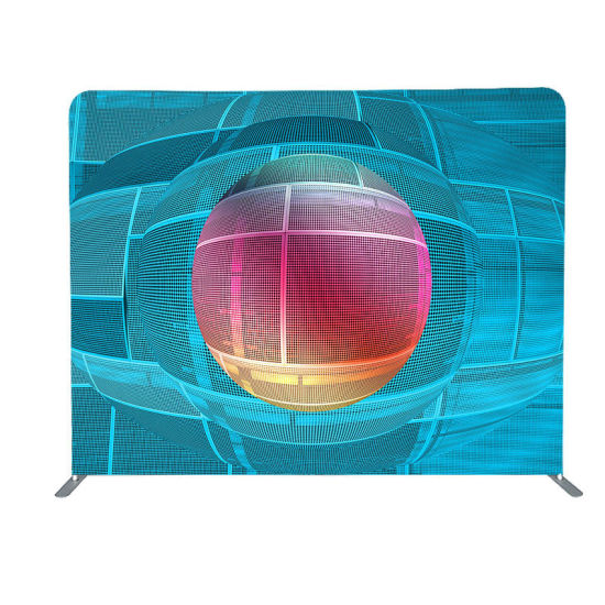 Retractable Tension Fabric Backdrop Displays Stand Banner