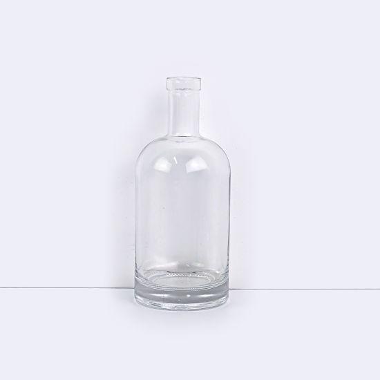 Large Capacity China Manufacturer Clear Glass Liquor Bottle Hot Selling Custom Shape Whiskey Bottles for Vodka/Brandy/Whiskey