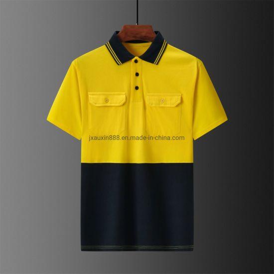 Hivis Cotton Polo Shirt Workwear Outdoor Garment