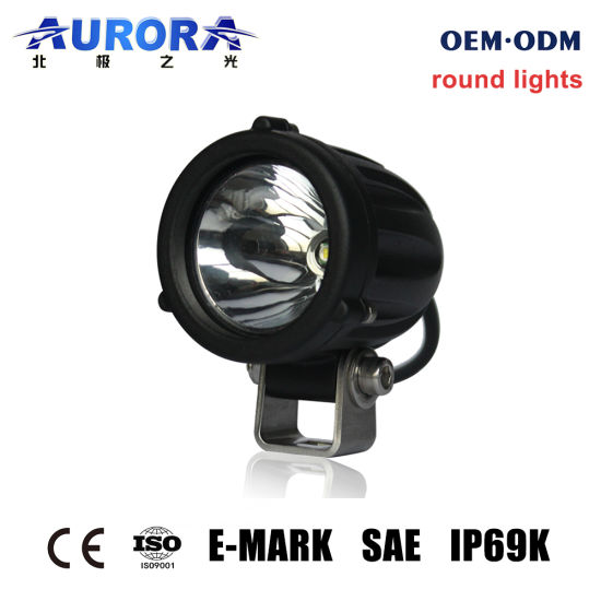 Auto Car Mini 12V 24V Round Driving Light LED Flood Spot Work Light for Motorcycle Truck Offroad Tractor