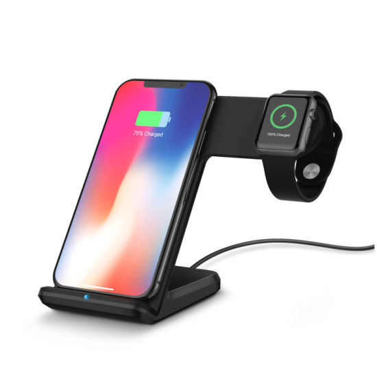 10W 2 in 1 Fast Charging Wireless Charge Dock