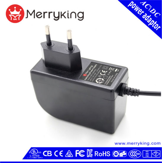 24W EU Plug Logo Print High Quality AC DC Power Adapter pictures & photos